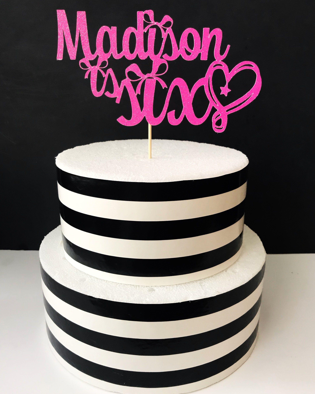 Custom jojo siwa inspired cake topper cake toppers
