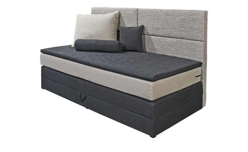 Einzel Boxspringbett grau mit Bettkasten Chill Taschen - möbel höffner schlafzimmer
