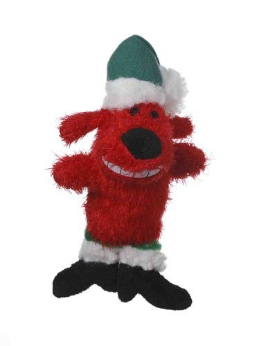 Multipets Red 6inch Santa Loofa Plush Dog Toy That Squeaks