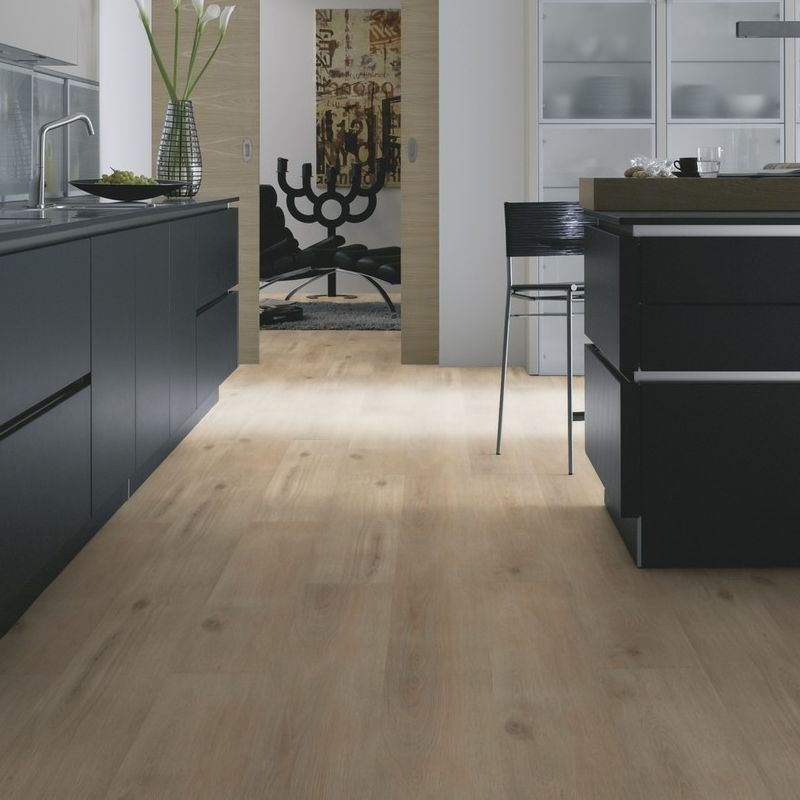 "lame pvc clipsable | wineo 1000 wood ""island oak sand"" - bricoflor"