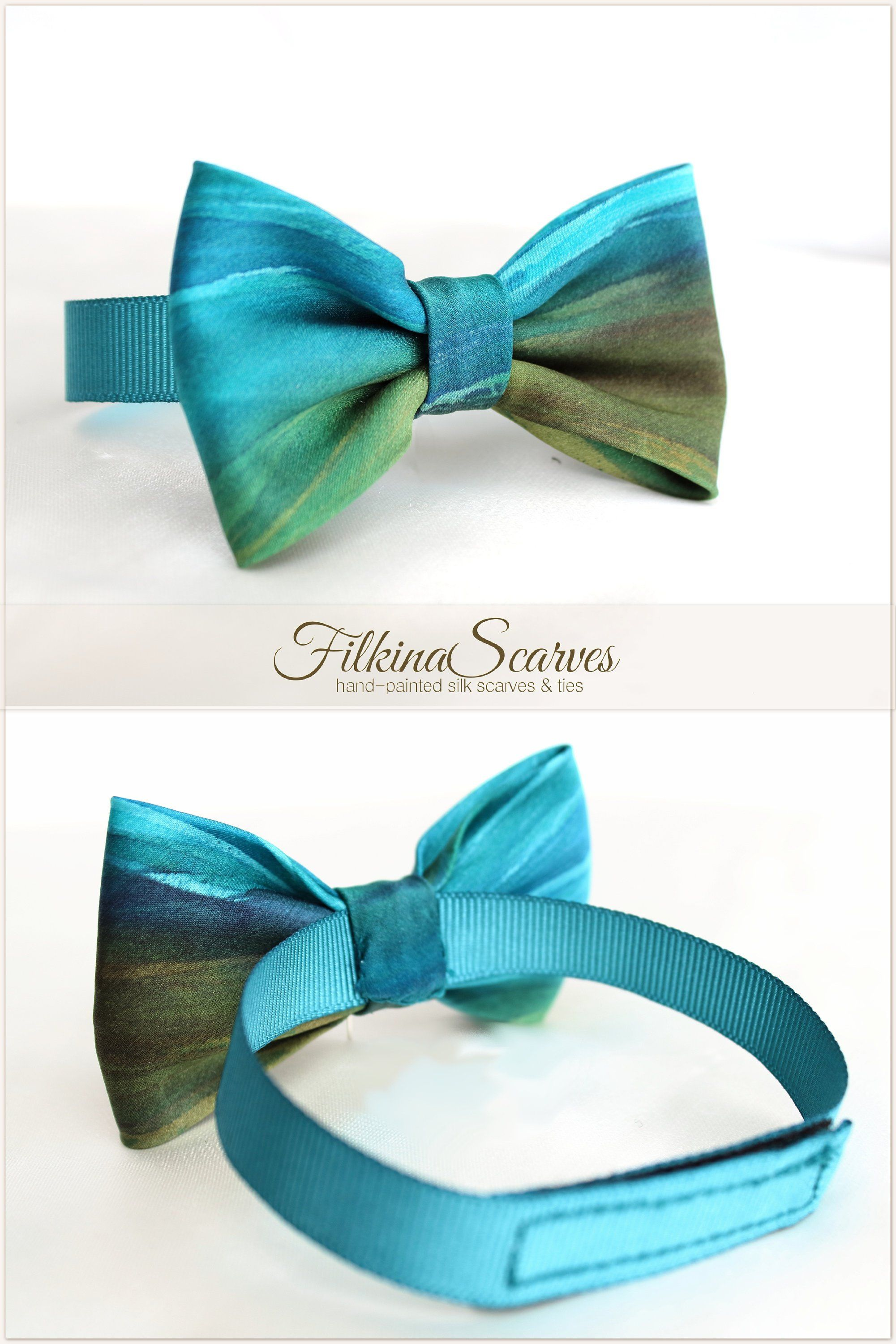 BOYS AQUA BLUE BOW TIE Little Baby Turquoise Toddler Kids Adjustable Pretied