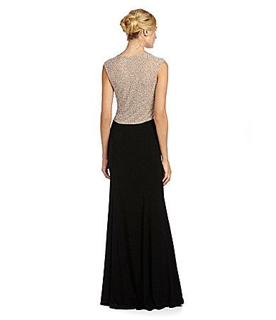 ffc82bb53e520 Xscape Beaded-Back Gown | Dillards.com | My Style - Dresses | Formal ...