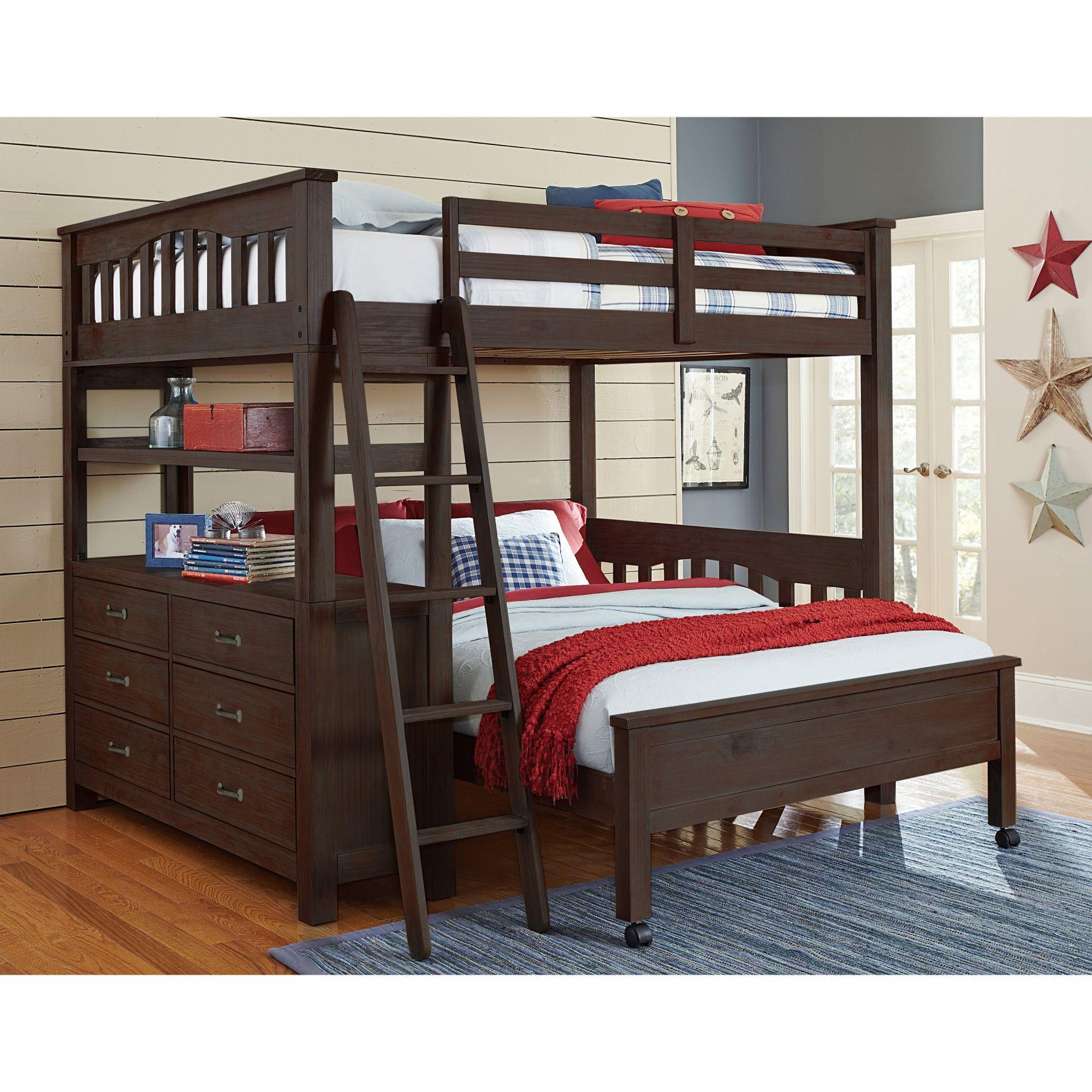 Loft over bedroom   Full Over Full Loft Bunk Beds  Simple Interior Design for