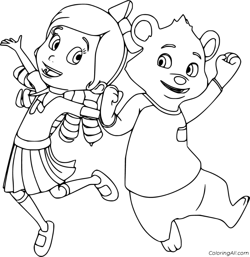 8 Free Printable Goldie And Bear Coloring Pages In Vector Format Easy To Print From Any Device And Au In 2021 Bear Coloring Pages Cartoon Coloring Pages Bear Coloring