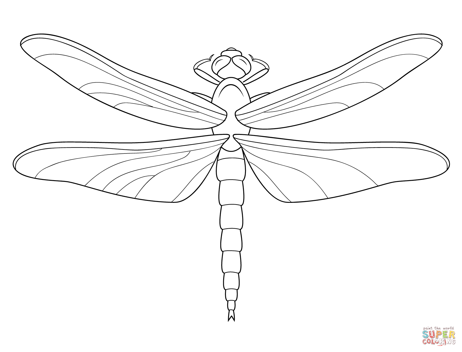 Dragonfly Coloring Page From Dragonfly Category Select From 28148 Printable Crafts Of Cartoons Nature Anim Dragonfly Drawing Coloring Pages Dragonfly Images
