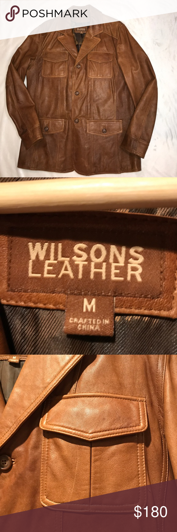 Wilsons Leather jacket size M Wilsons leather, Wilsons