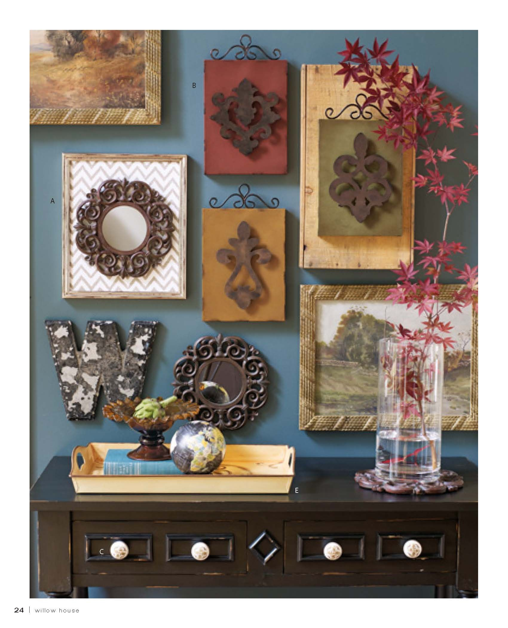 Another Great Wallscape Idea Http Janinerolph Willowhouse Com Willow House Decor Southern Living Homes