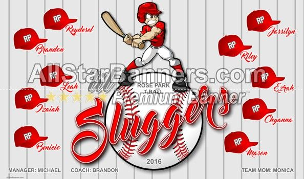 Lil Sluggers Baseball Banner Idea From Allstarbanners Com We Do Soccer Banners Baseball Banners Softball B Baseball Banner Design Team Banner Football Banner