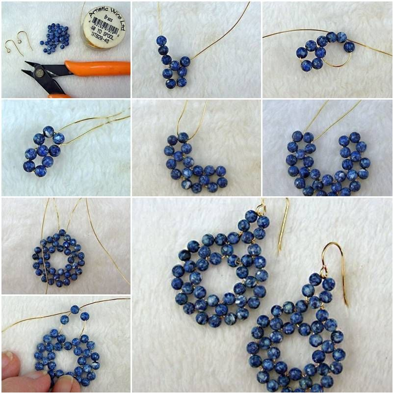 How to make gold wire beads or pearl jewelry earrings step by step how to make gold wire beads or pearl jewelry earrings step by step diy tutorial instructions how to how to do diy instructions crafts do it yourself solutioingenieria Images