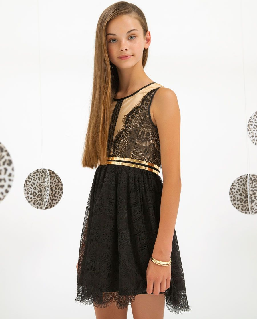 0b30478682a Girl s Lace Dress - Bardot Junior Prom Dresses For Teens