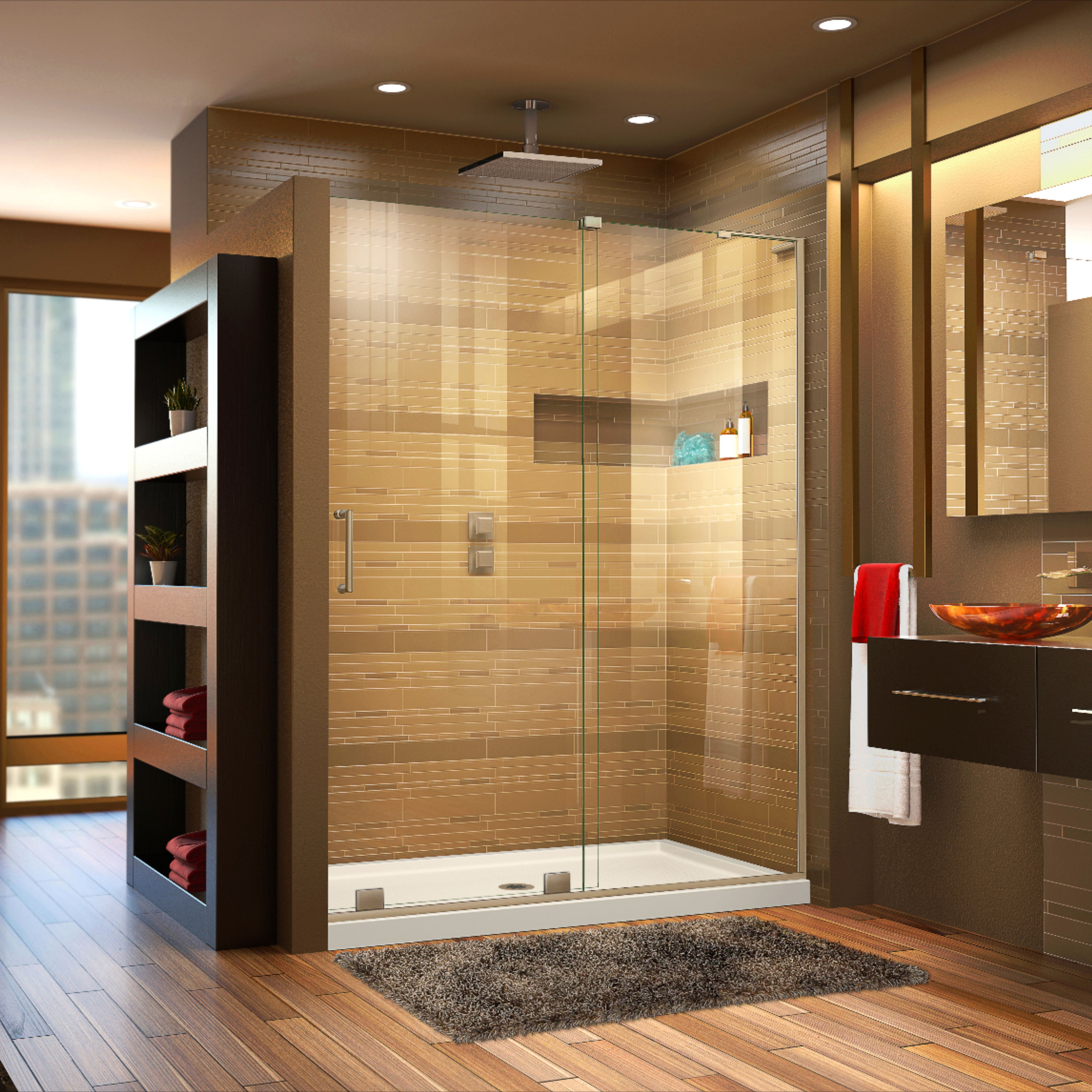 Dreamline Mirage X 56 60 In W X 72 In H Frameless Sliding Shower Door Frameless Shower Doors Shower Doors Frameless Sliding Shower Doors 60 x 72 shower door