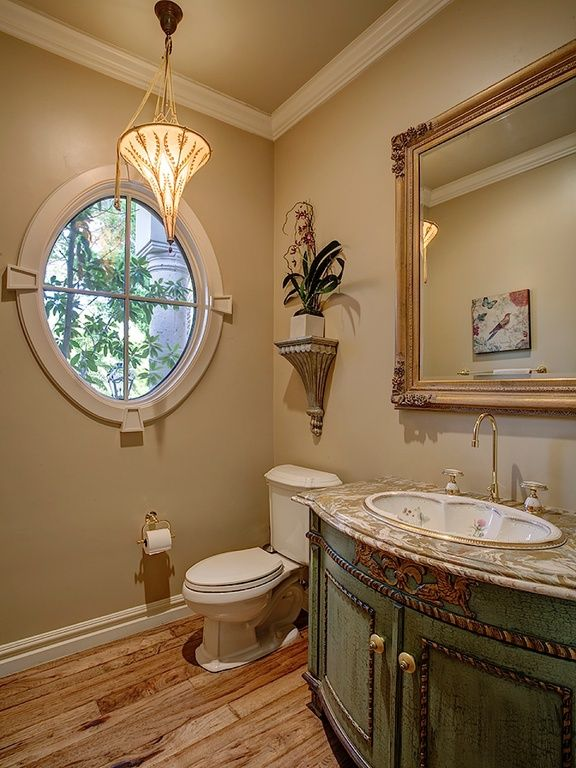 Wondrous Traditional Powder Room With Hardwood Floors High Ceiling Download Free Architecture Designs Remcamadebymaigaardcom