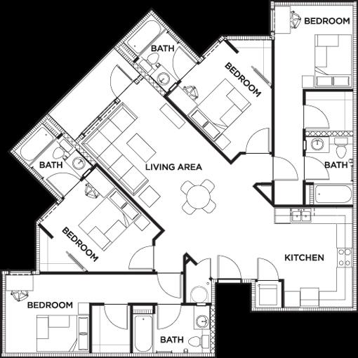 Floor Plans 2125 Franklin Student Apartments In Eugene Or Near University Of Oregon Student Apartment House Floor Plans School Floor Plan