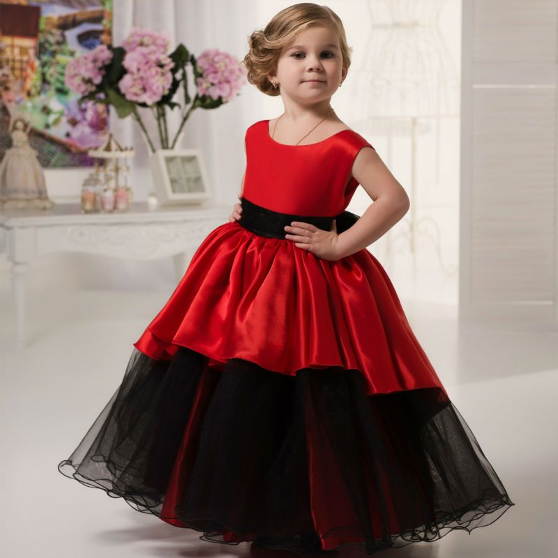 Click To Buy Ball Gown Flower Girls Dresses For Wedding Gown Red