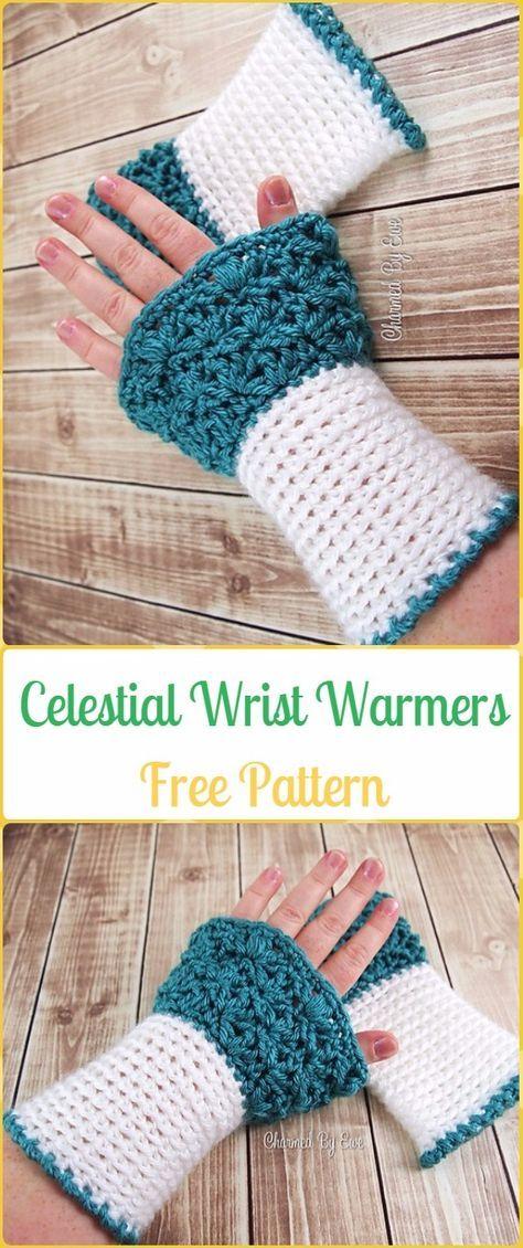 Crochet Celestial Wrist Warmers Free Pattern Crochet Arm Warmer