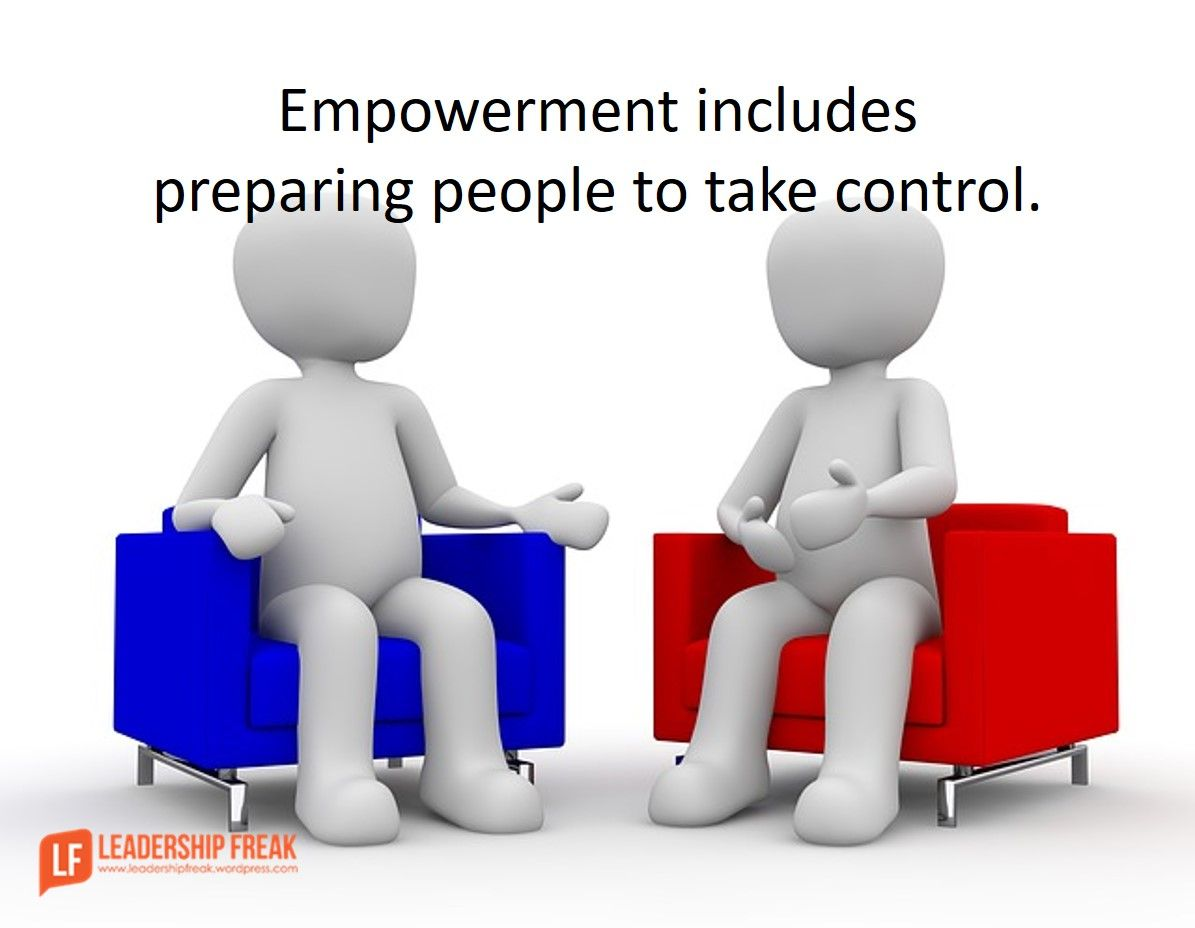 To Empower People You Must Give Them Some Control One On