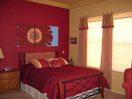 Bedroom Colors And Designs red-wall-master-bedroom-paint-colors-design | guest bedroom decor