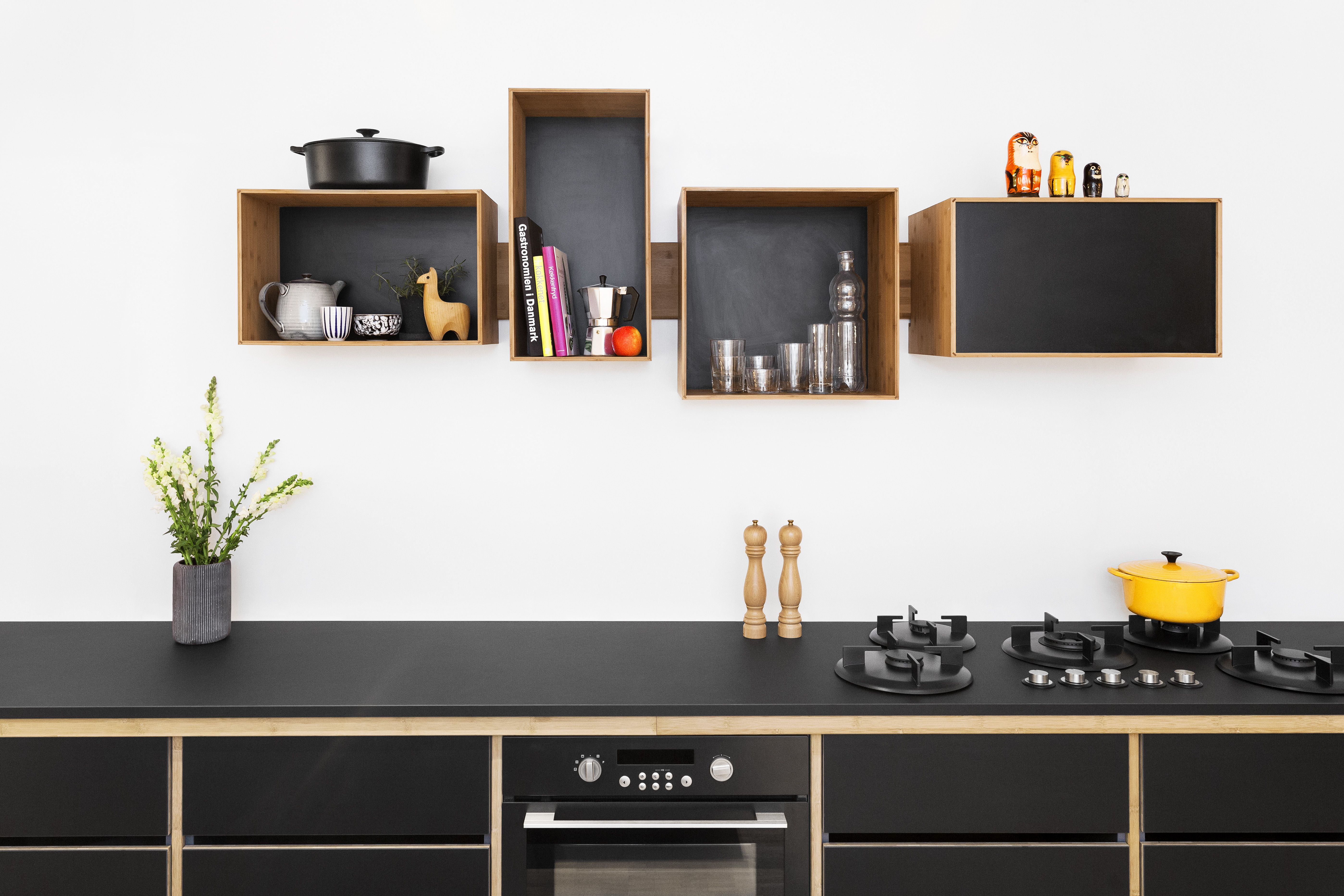 Trend Alert 11 Kitchens With Wall Mounted Box Shelving  Remodelista