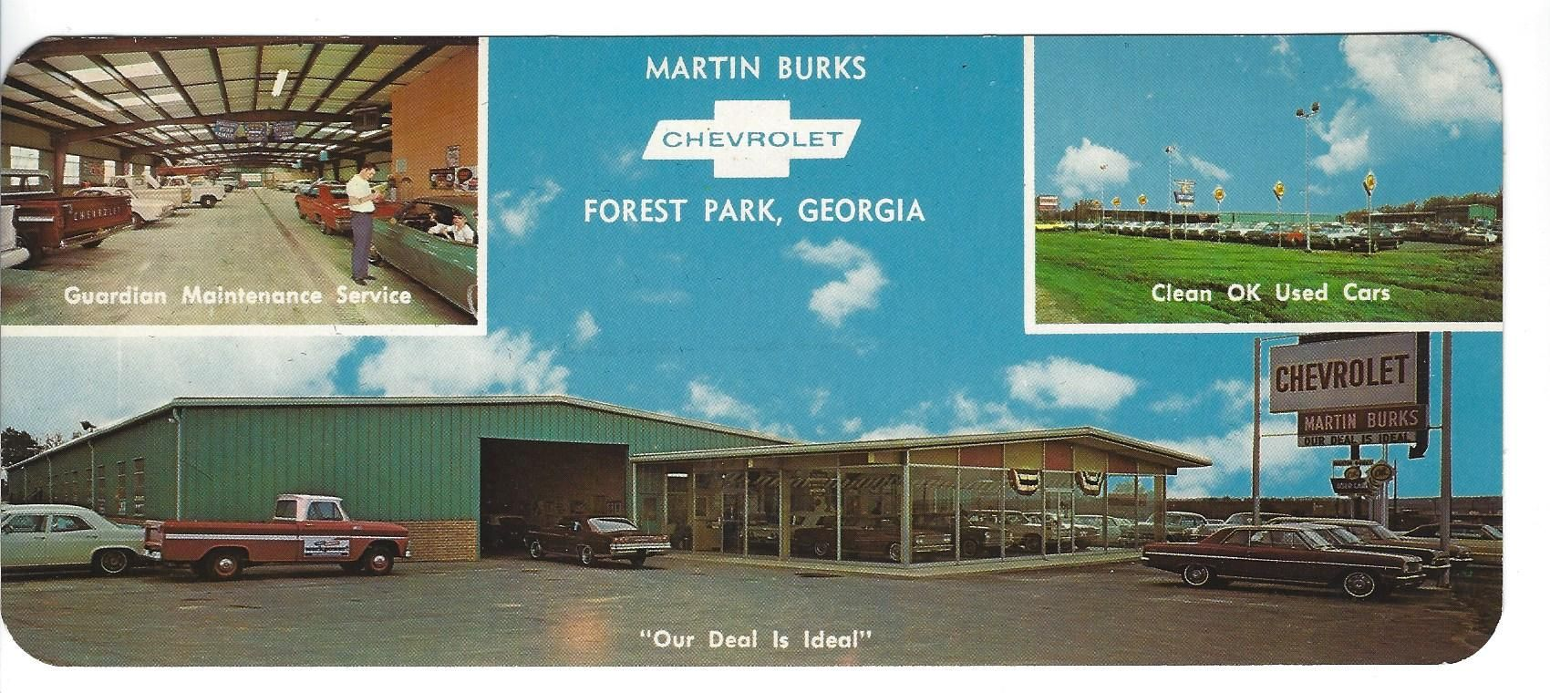 Chevrolet Dealers In Ga >> Martin Burks Chevrolet Forest Park Ga Marketing Postcard