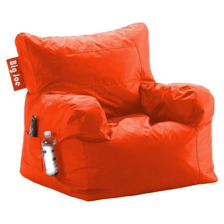 Best Beanbag Lounge Chair In Tangerine Tango With A Drink 400 x 300