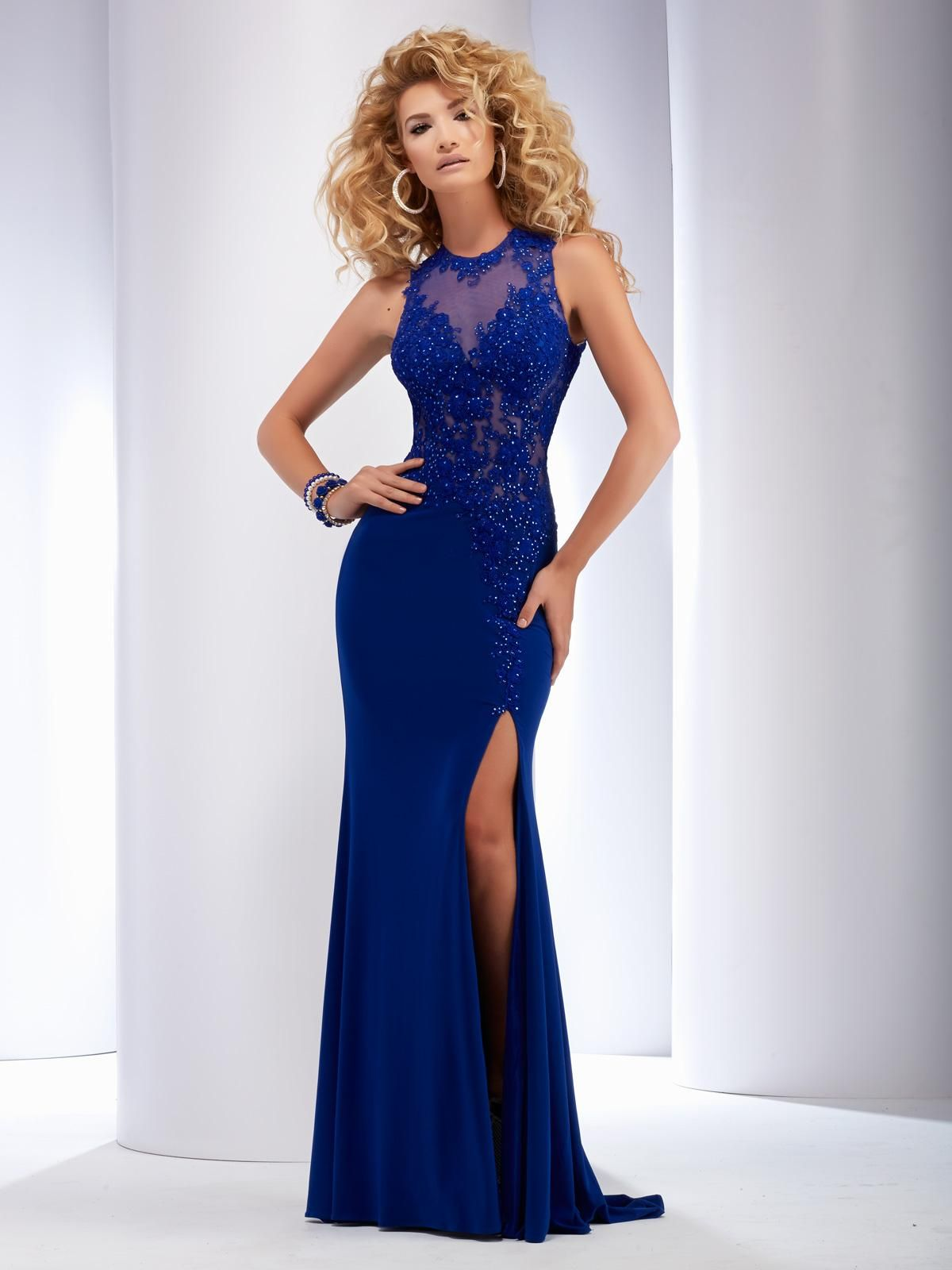 Royal Blue Fitted Dresses