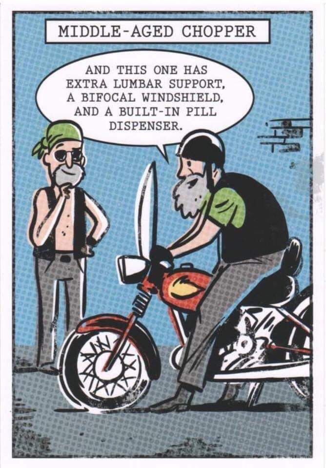 Haha! motorcycle Birthday ecards funny, Birthday humor