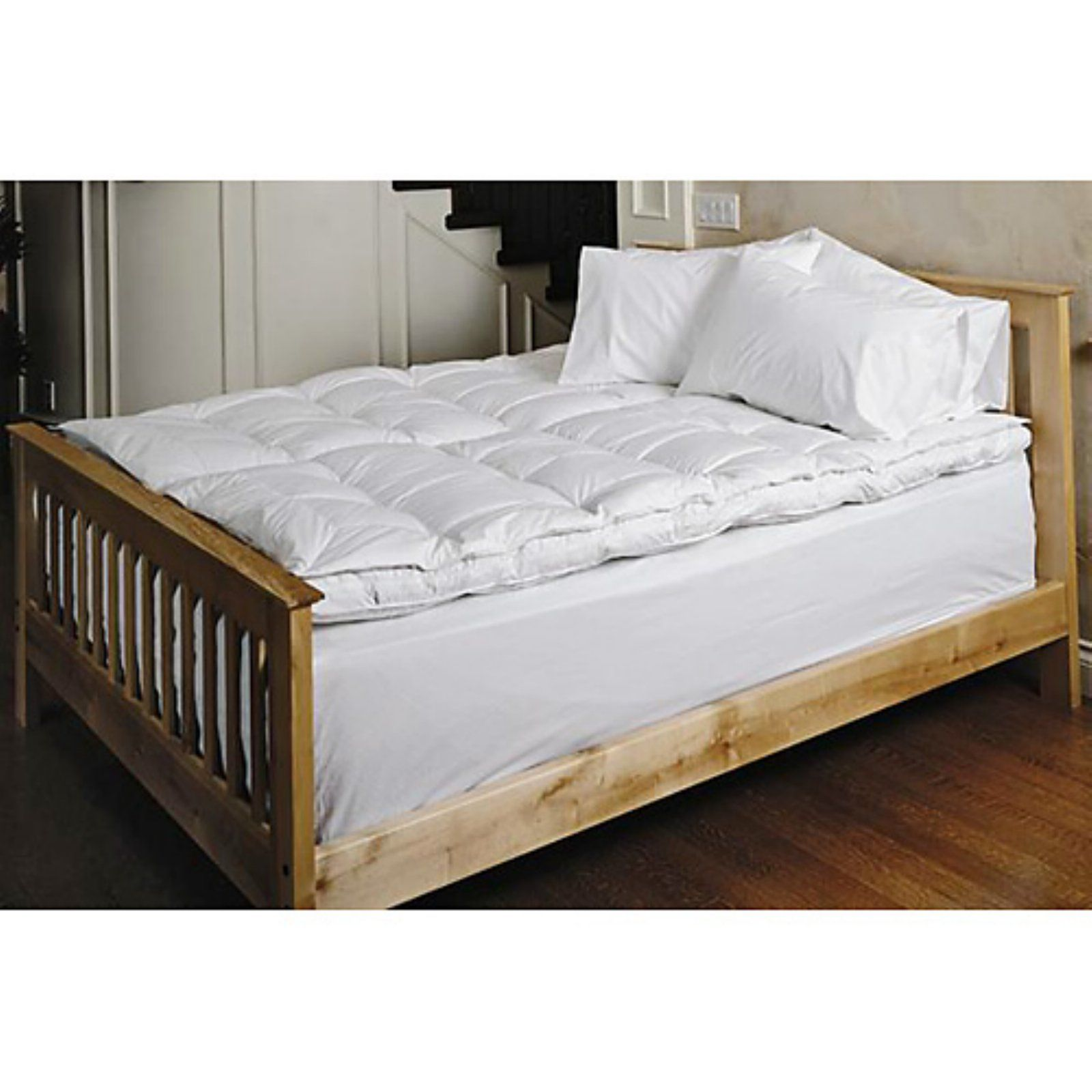 Daniadown White Goose Pillow Top Feather Bed Feather Mattress Mattress Mattress Topper