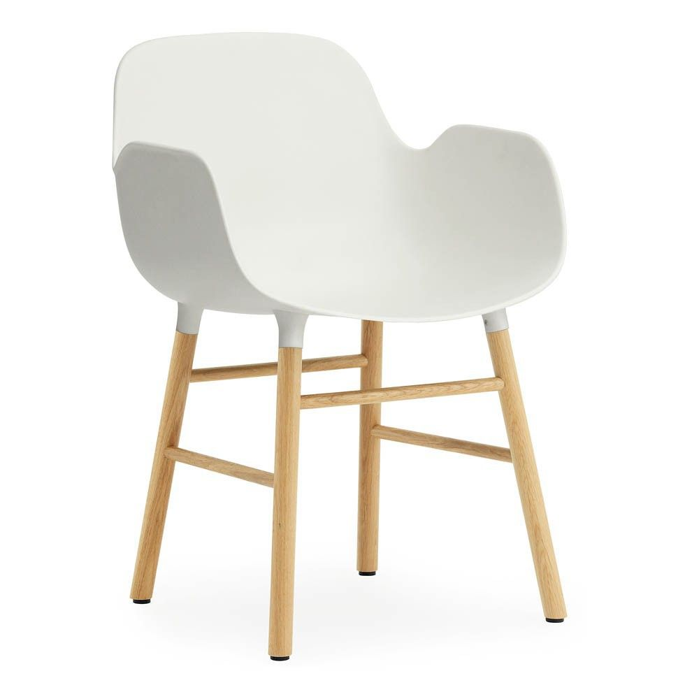 Chaise avec accoudoirs Form Blanc