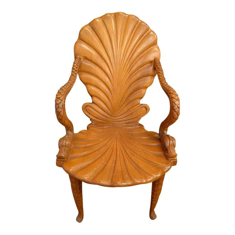 Strange Vintage Italian Carved Wood Fantasy Grotto Chair With Ncnpc Chair Design For Home Ncnpcorg
