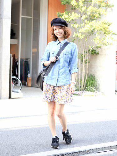 まぁるいラインがキュートなキャスケット♡キャスケットがキュートなコーデ☆参考にしたいスタイル・ファッション♪