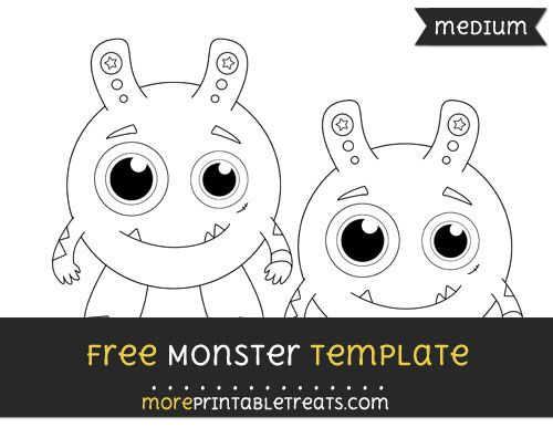 Free Monster Template - Medium Shapes and Templates Printables - Monster Template