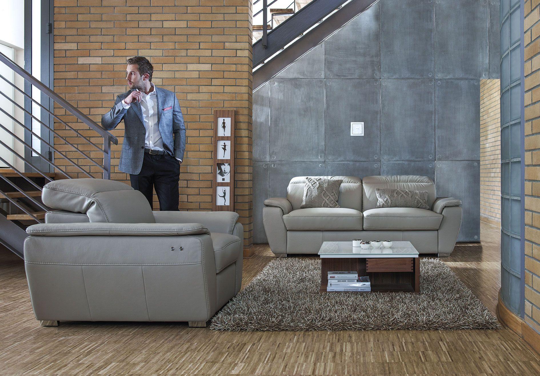 Kler Molto W124 kanapa sofa Szary akcent we wnętrzach