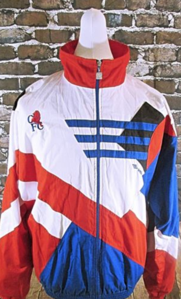 3aec3509f79 FOR SALE  Vintage Umbro Mens Chelsea 1991 Tracksuit Jacket White Red and  Blue In Medium
