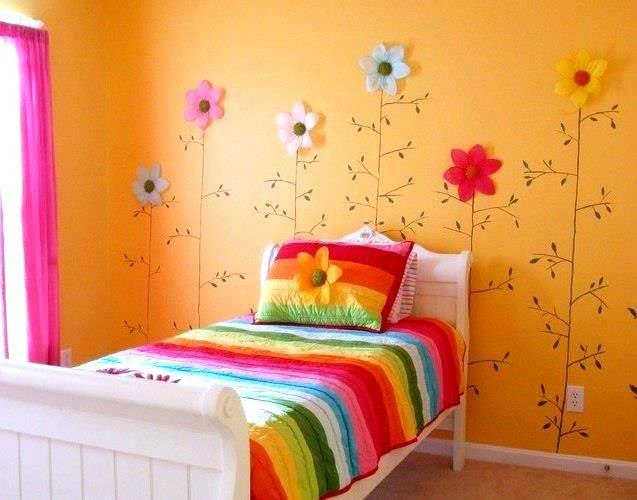 Flores para decorar una habitaci n infantil habitaci n for Decorar habitacion infantil nina