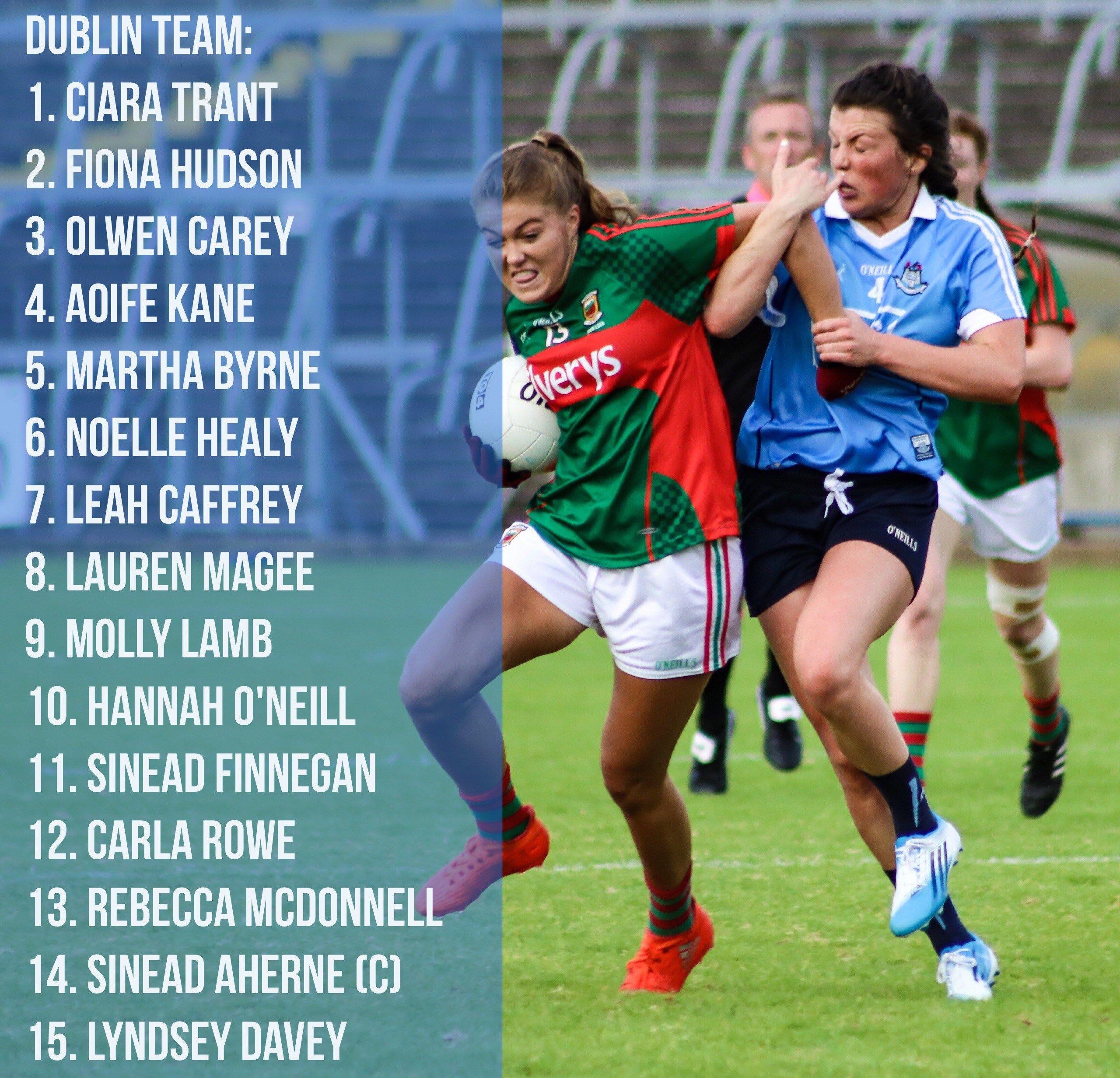Bohan Goes With Same 15 For Historic Clash Against Mayo We Are Dublin Gaa Dublin Martha Byrne Football Manager