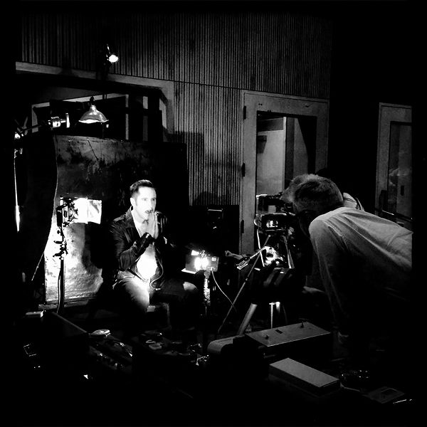 """David Lynch and Trent Reznor - making video for """"Came Back Haunted"""" NIN - By: Rob Sheridan"""
