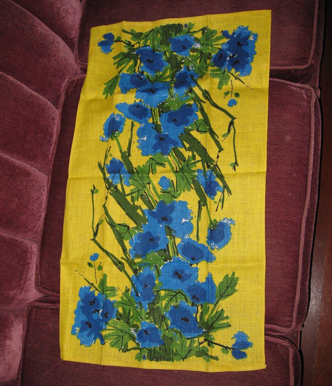 vintage vera kitchen towel unused ladybug logo blues