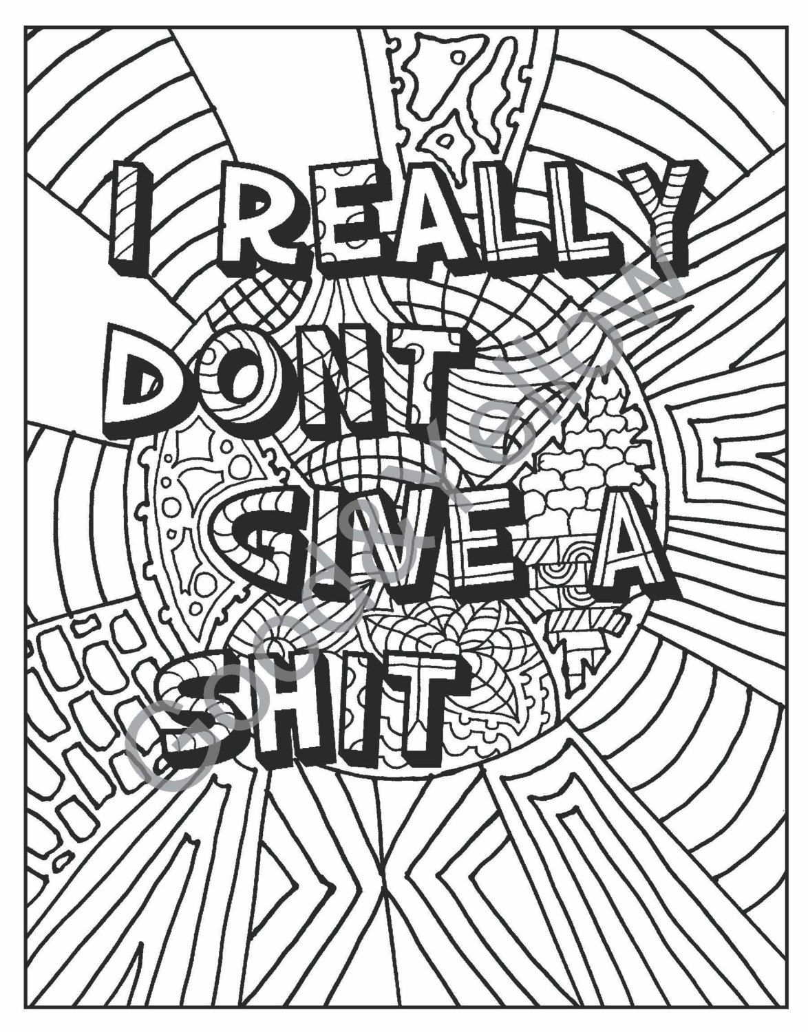 swear words adult coloring book hate your by lovablelynzi