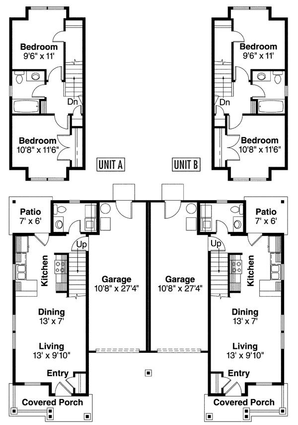 Plan No 346106 House Plans By Westhomeplanners Com House Plans Garage House Plans Duplex House