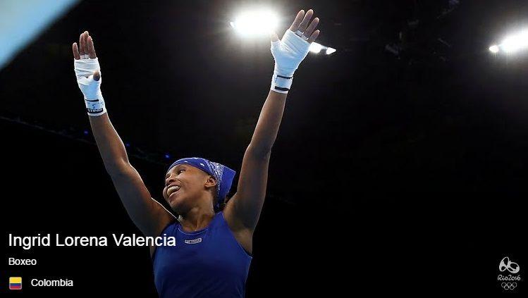 Ingrid Lorena Valencia, boxeo peso Mosca 51 kg (Bronce).