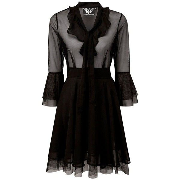 92a1b98df8 Killstar Decay Nu-Mourning Dress ❤ liked on Polyvore featuring dresses