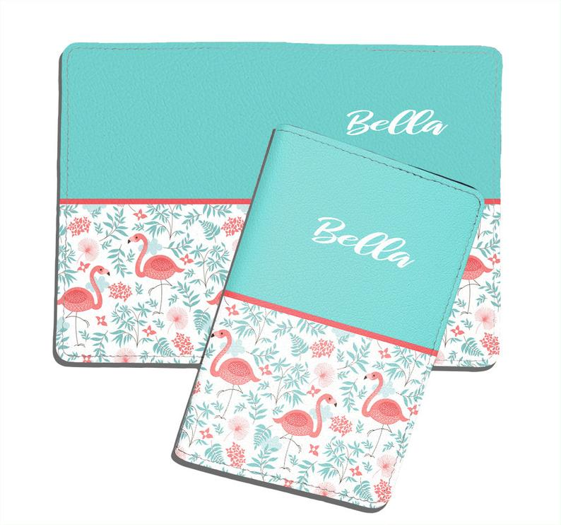 Floral Leather Business Passport Holder Protector Cover/_SUPERTRAMPshop