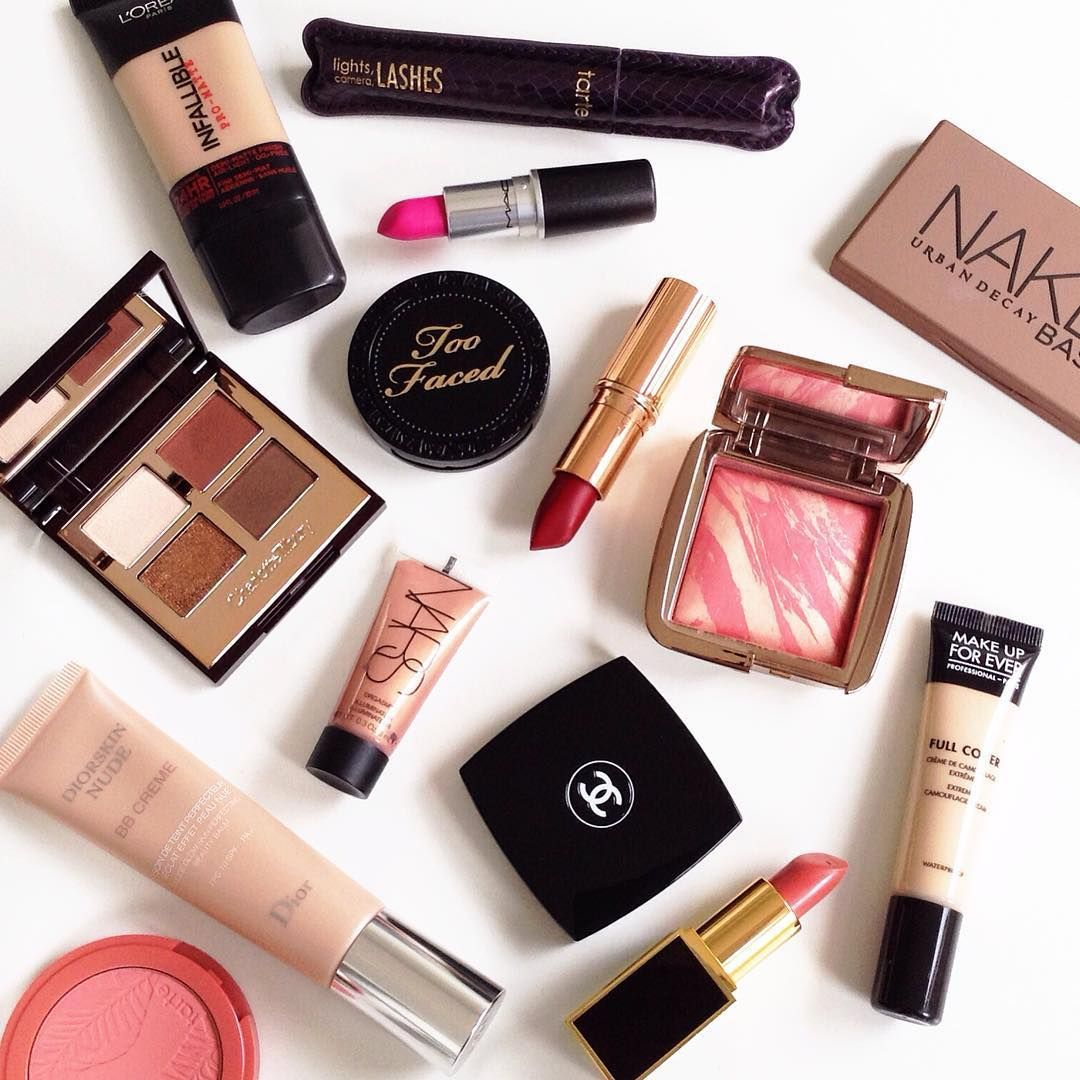 A Beautiful Assortment of Luxury Cosmetics Including: Tarte, Dior NARS, Tom Ford, Loreal, Charlotte