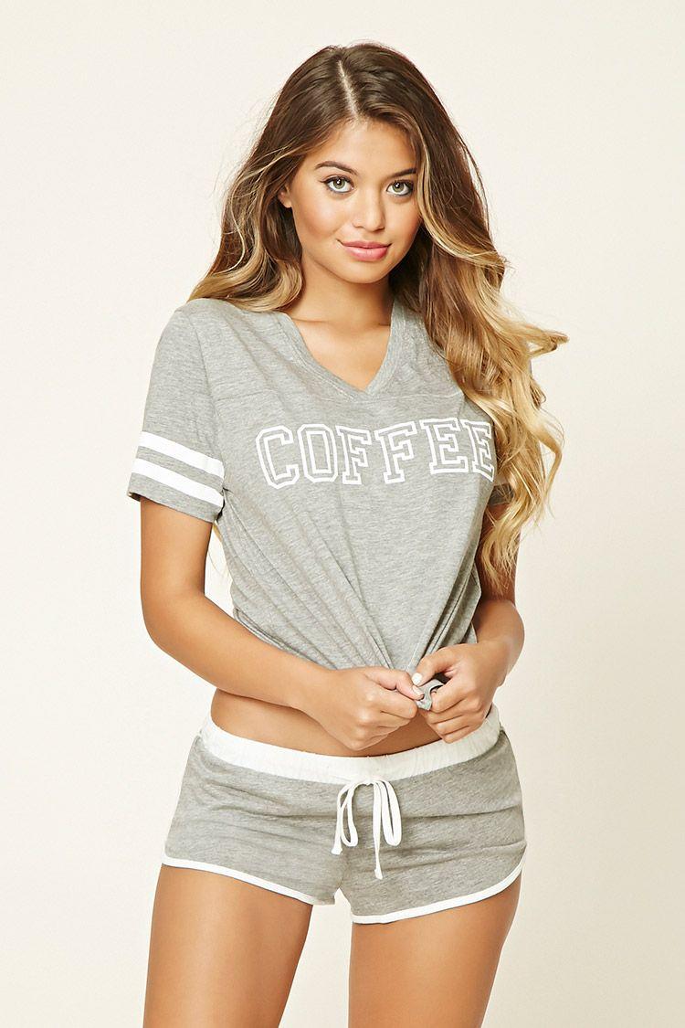 """Pijama """"Coffee"""" - Mujer - Lencería - Ver Todo - 2000199070 - Forever 21 EU  Español 82e6642c4e4e"""