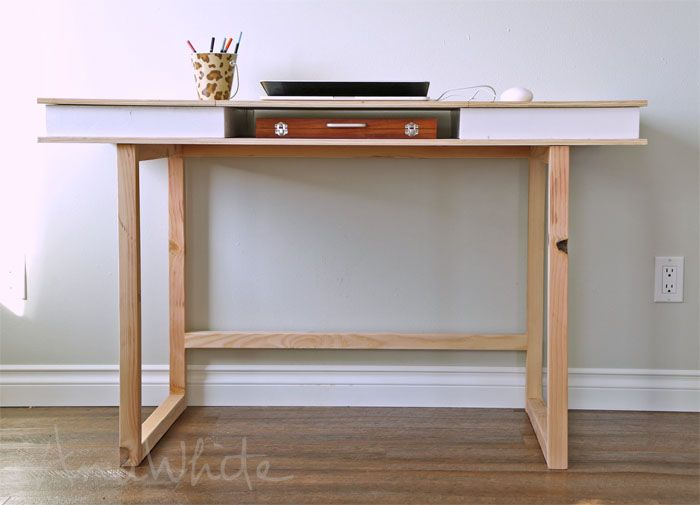 Modern 2x2 Desk Base For Build Your Own Study Desk Plans Diy Desk Plans Desk Plans Easy Woodworking Projects