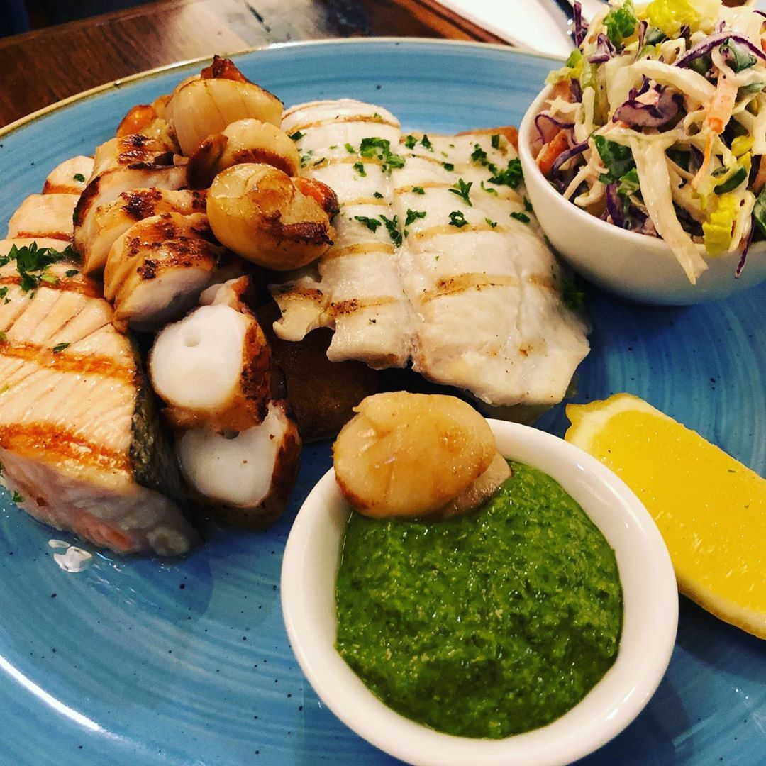 Blue Eye Seafood Restaurant on Hobart's waterfront with it's fresh and tasty local fish and seafood.....specialising in grilled fish dishes and seafood platters . . . . .
