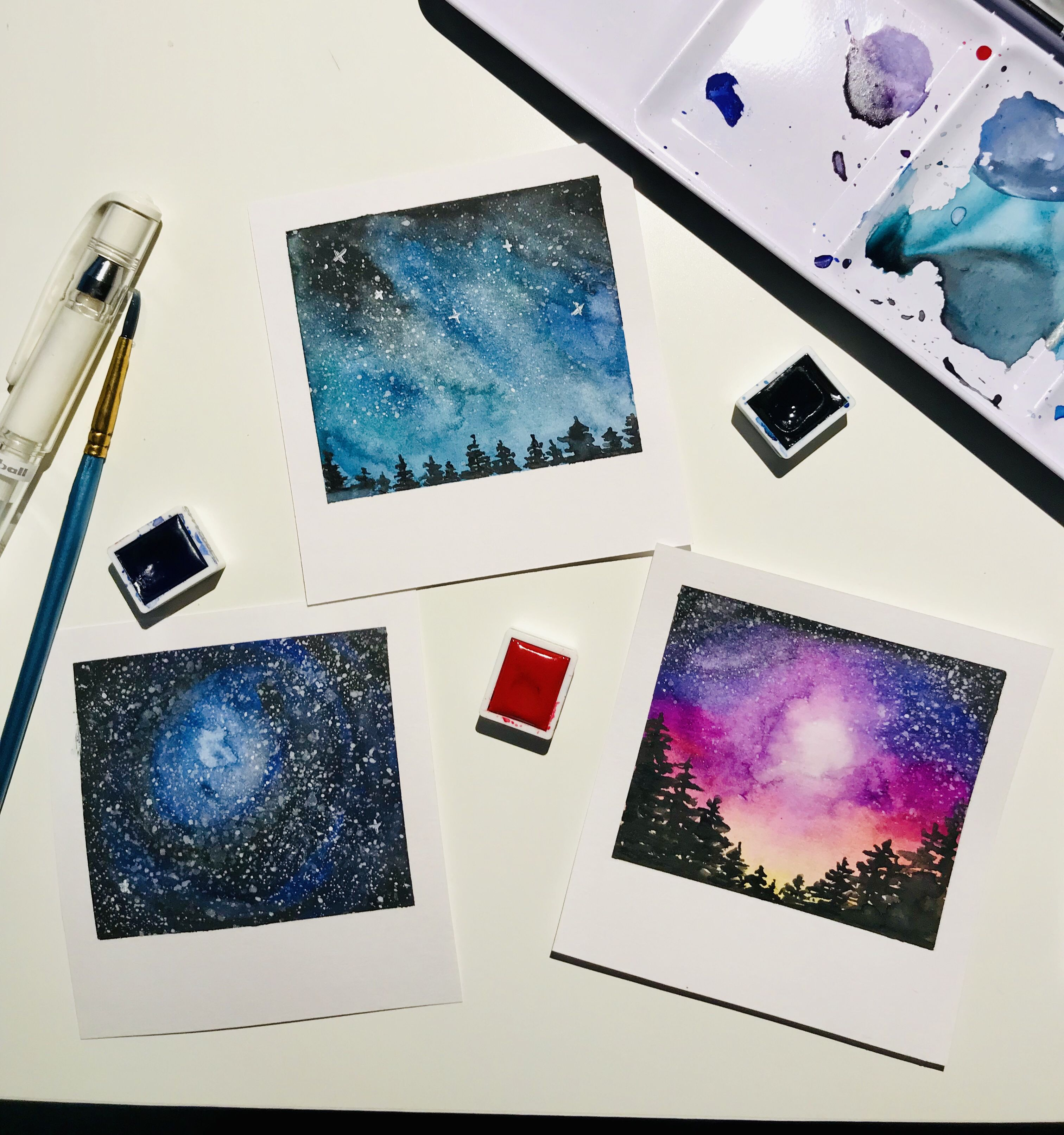 Polaroid Aquarell Aquarellmalerei Kunst Aquarell