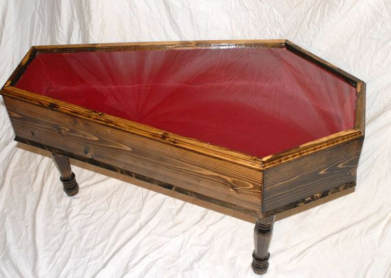 Coffin Coffee Table by Cryptiture on Etsy 40000 Halloween