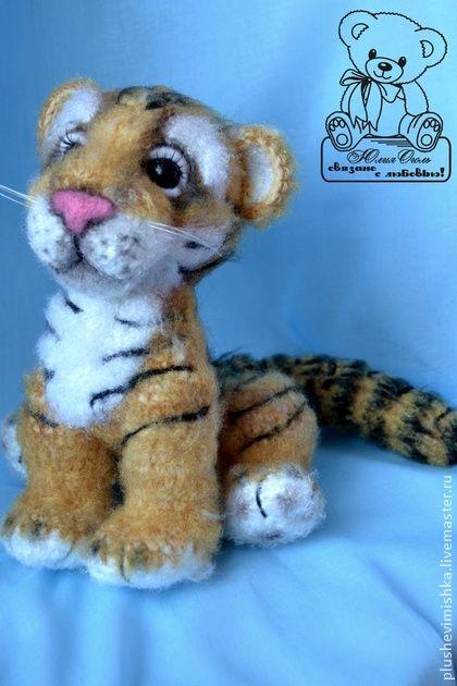Animal toys, handmade.  Fair Masters - handmade.  Buy Lucky Tiger.  Handmade.  Tiger, tiger, gift