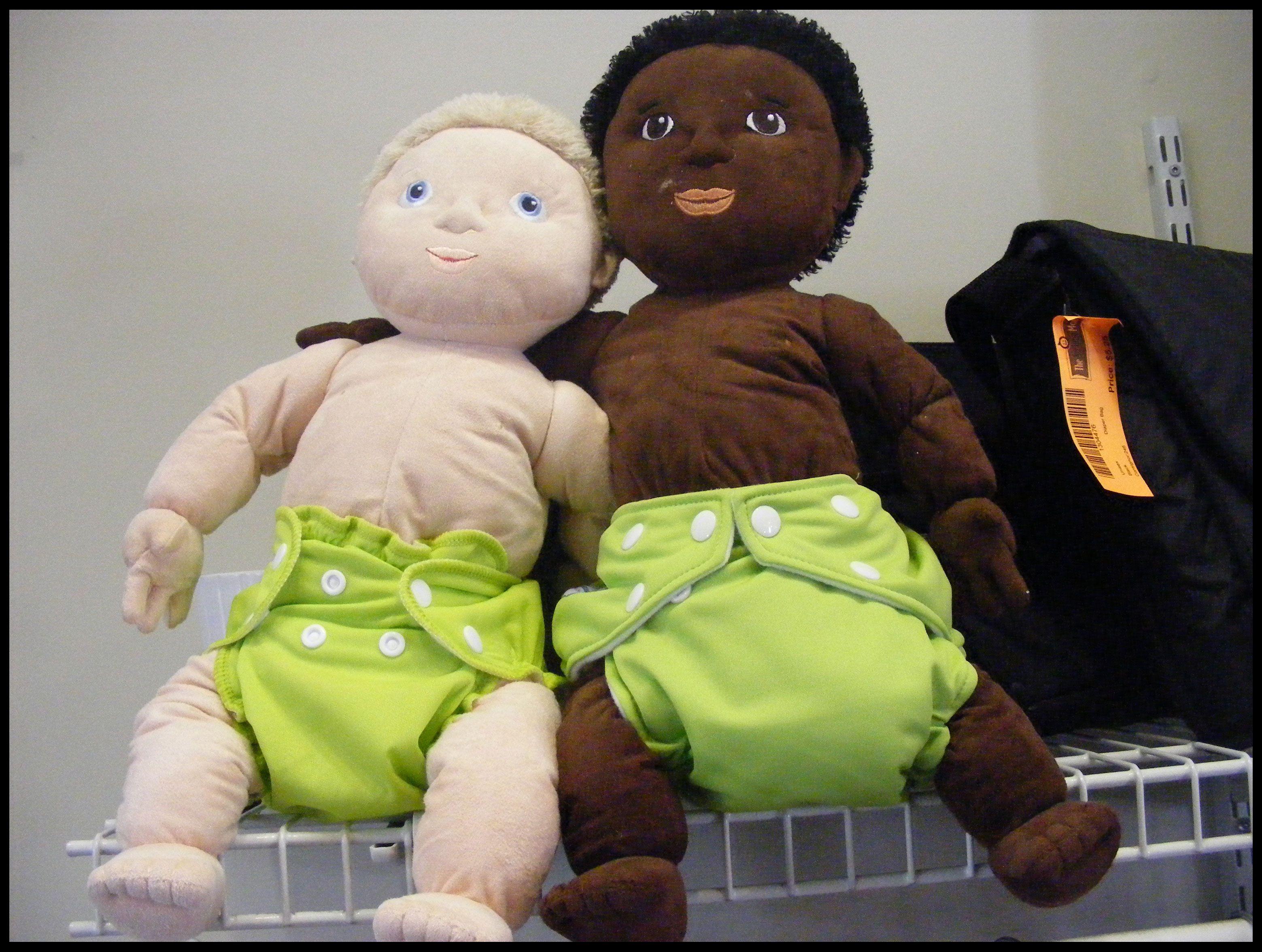 Our Cloth Diaper 101 Dolls! : http://www.naturebumz.com/cloth-diapering-101